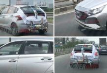 new gen Hyundai elite i20 spied undisguised