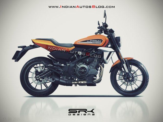 Harley-Davidson 350 Rendering side profile