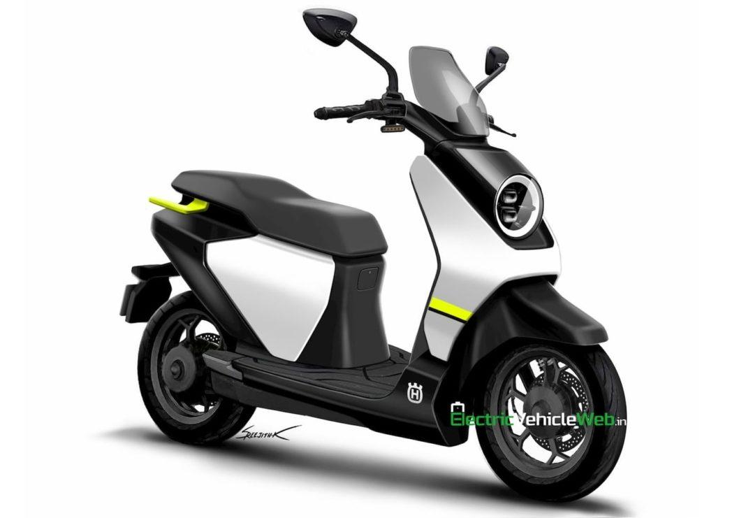 Husqvarna electric scooter rendering