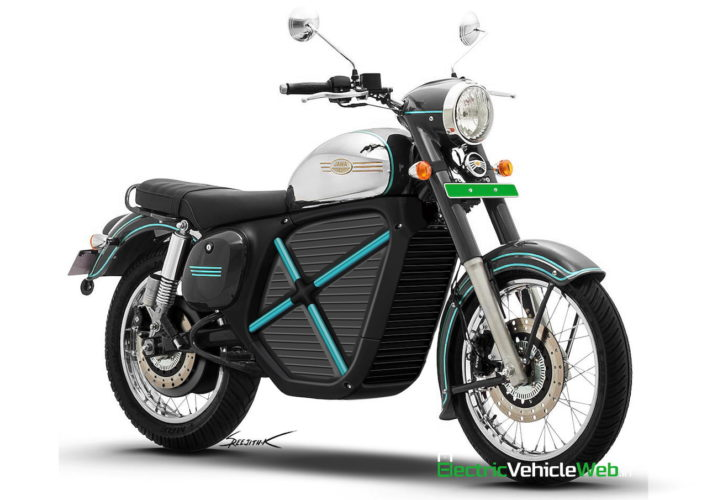 Jawa Electric Motorcycle Rendering front angle