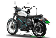 Jawa Electric Motorcycle with charger digitally imagined
