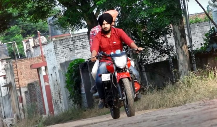 Maruti 800 based custom motorcycle