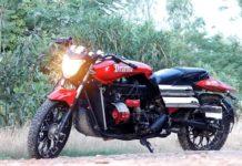 Maruti 800 based custom motorcycle feature