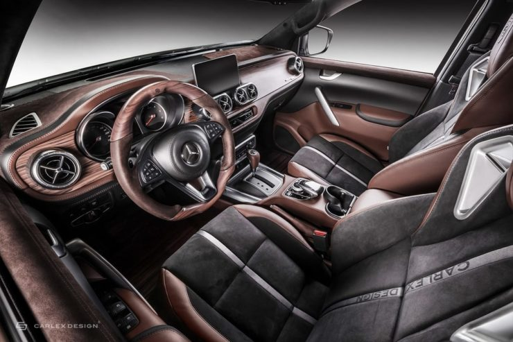 Mercedes Benz X Class modified interior front row