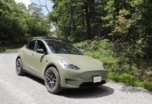 Modified Tesla Model Y Off Road driving