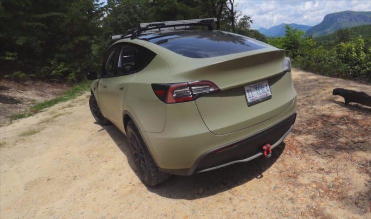 Modified Tesla Model Y rear angle
