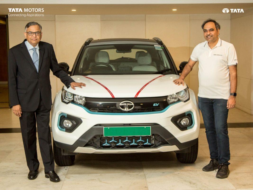 Nexon EV Delivered To Tata Motors Chairman N. Chandrasekaran On Ganesh Chaturthi