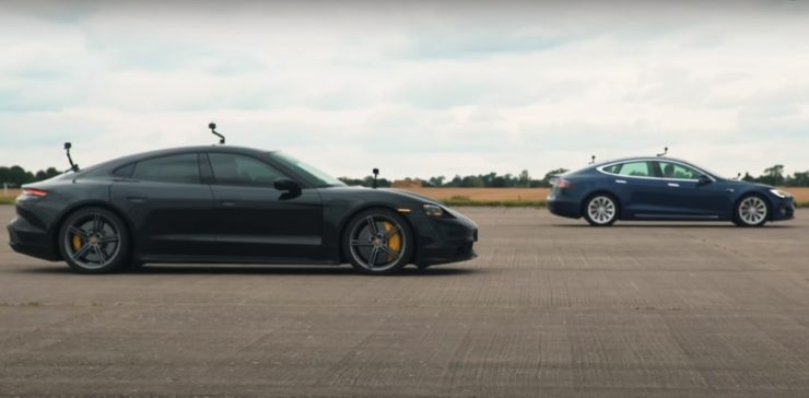 Tesla Model S vs Porsche Taycan