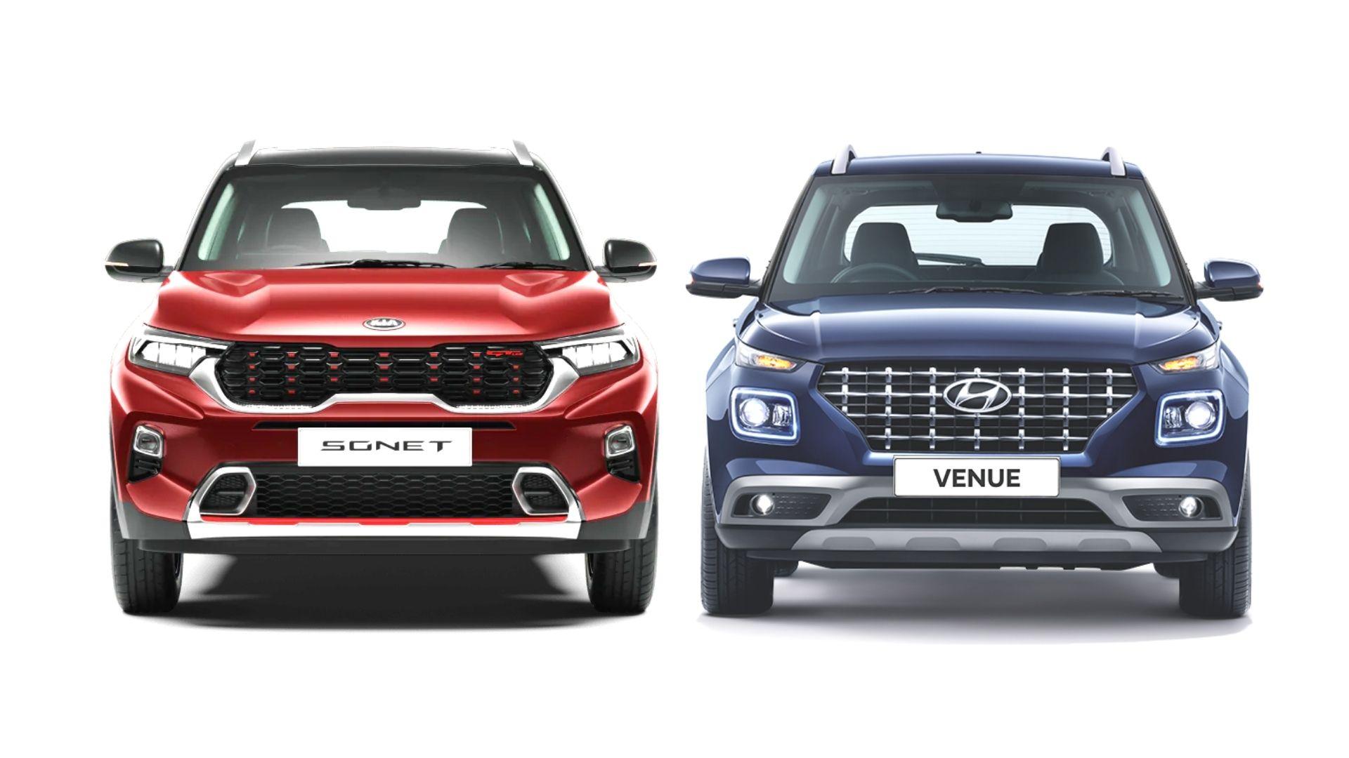 Hyundai Venue Vs Kia Sonet Spec Sheet And Features Comparison