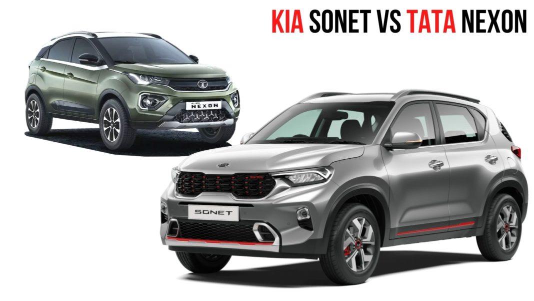 Kia Sonet Vs Tata Nexon Specs And Features Comparison