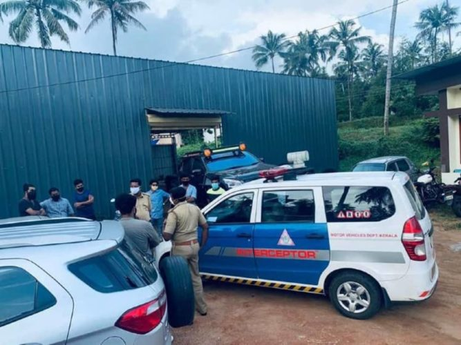 modified Isuzu D-Max V-Cross fined in Kerela
