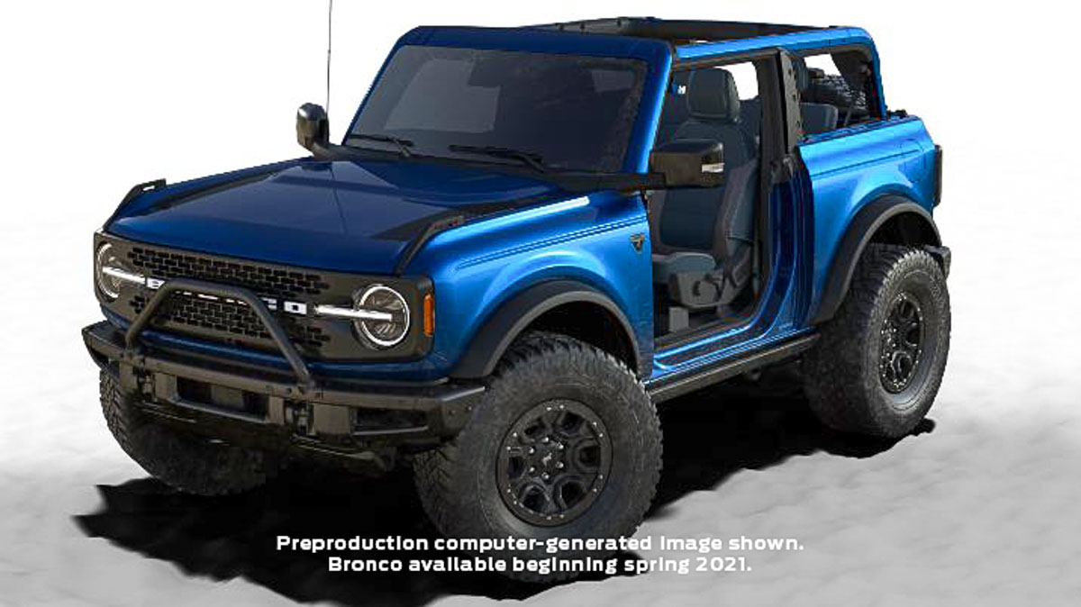 2021 Ford Bronco First Edition Gets A New 'Lightning Blue ...
