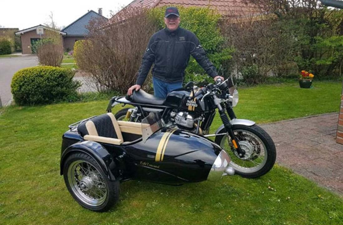 Continental GT 650 with sidecar