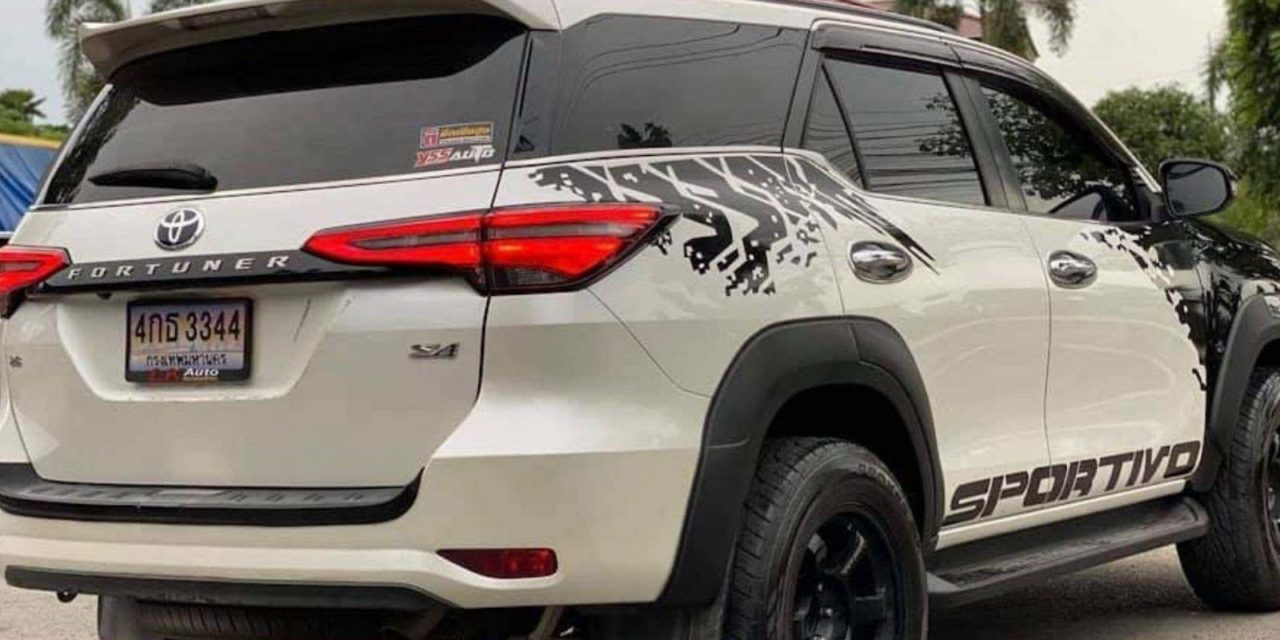 Customised toyota fortuner hilux 2