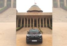 First Mahindra Alturas G4 BS6 president of india2