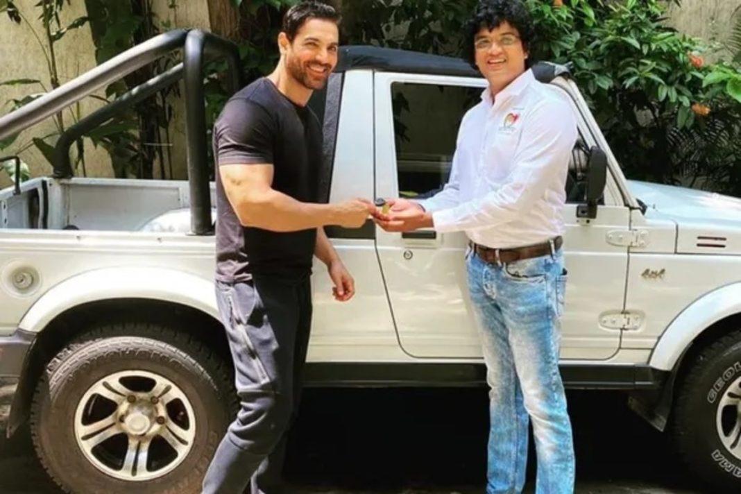 John Abraham Donates car to animal NGO