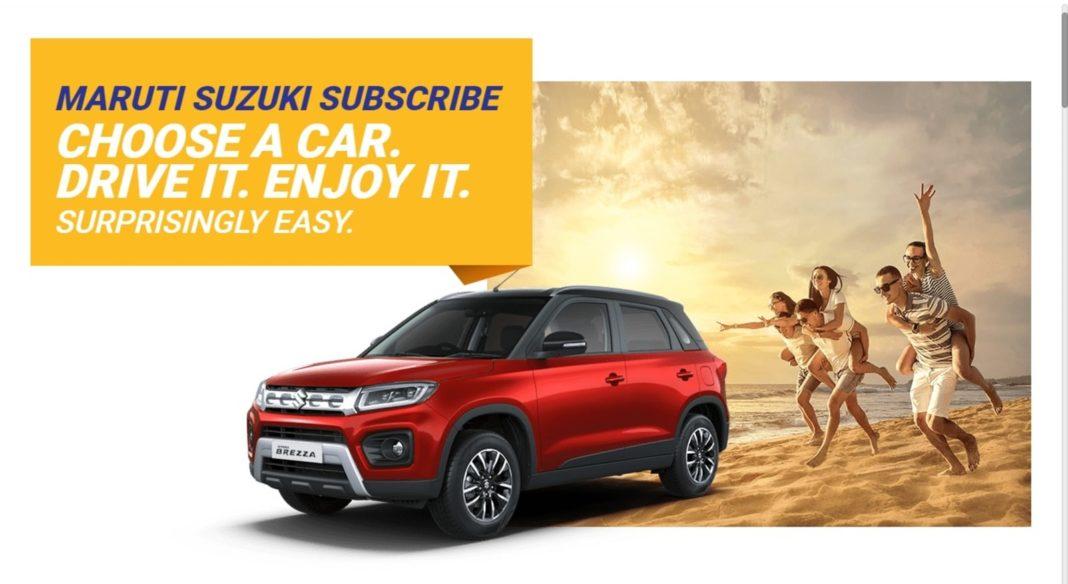 Maruti Suzuki car subscription service