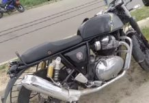 Royal Enfield GT650 Accident