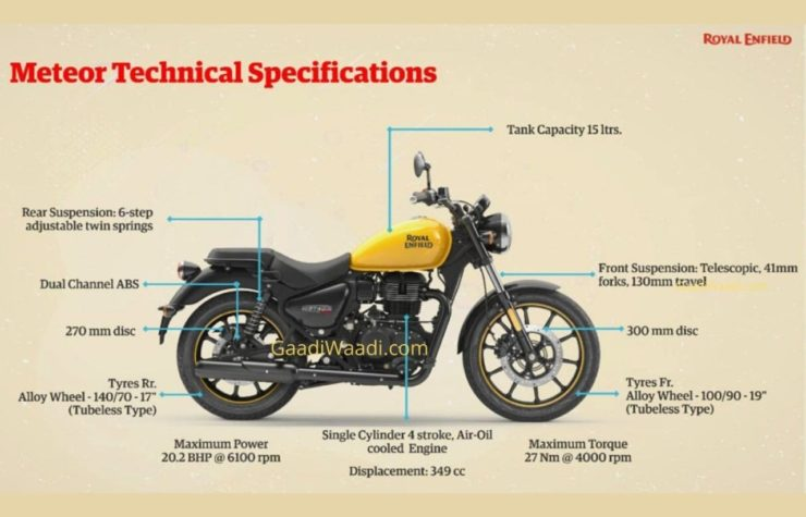 Royal Enfield Meteor technical specs leaked 1