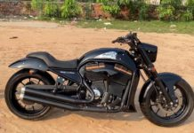 Royal Enfield Thunderbird modified Indian Scout Replica