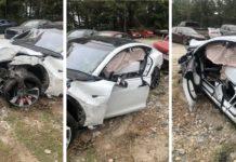 Tesla Model 3 Accident driver safe