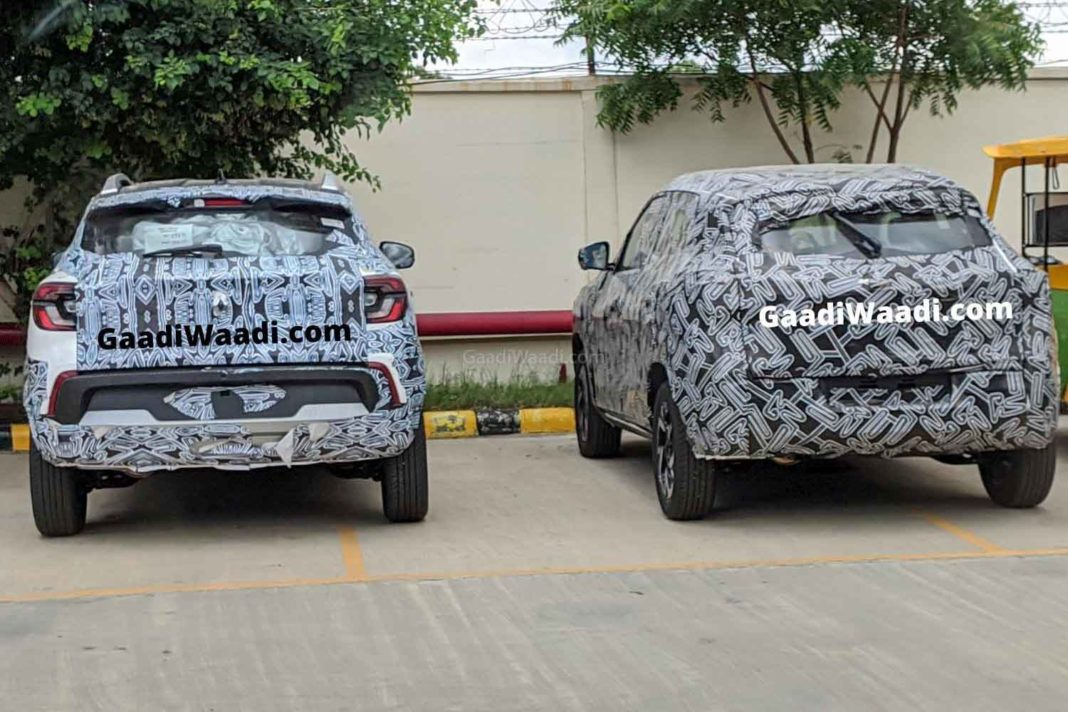 Exclusive Upcoming Renault Kiger Nissan Magnite Spied Together Debut Soon
