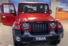 2020 Mahindra Thar with official OEM accessories