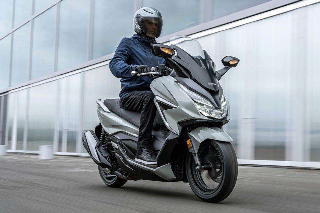 2021 Honda Forza 350 and 125 maxi scooters