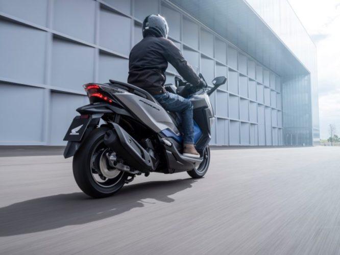 2021 Honda Forza 350 rear low angle