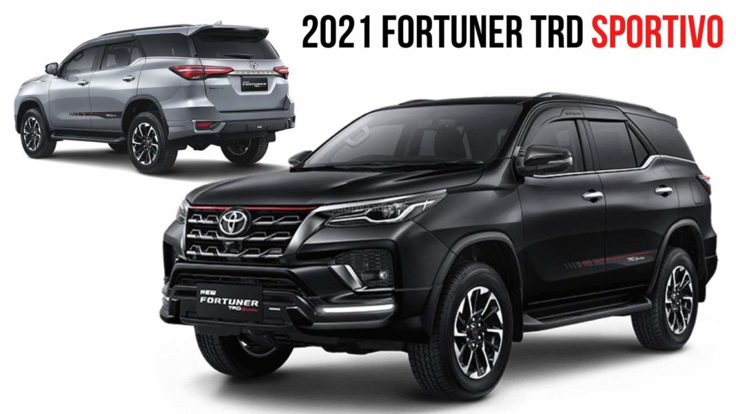 2021 Toyota Fortuner Facelift Gets TRD Sportivo Trim With ...