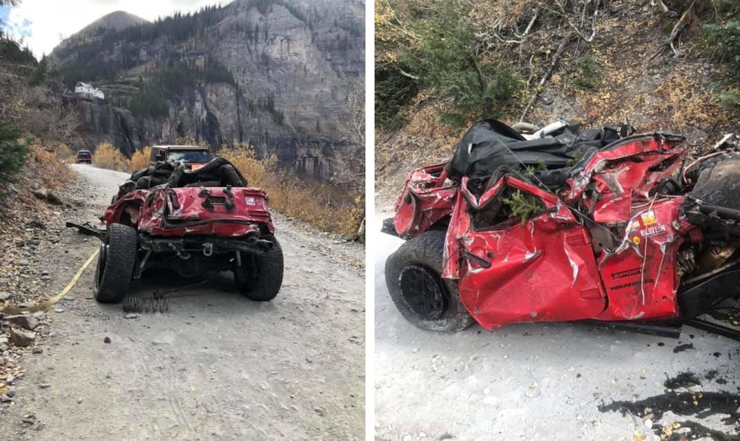 Jeep Wrangler off road accident