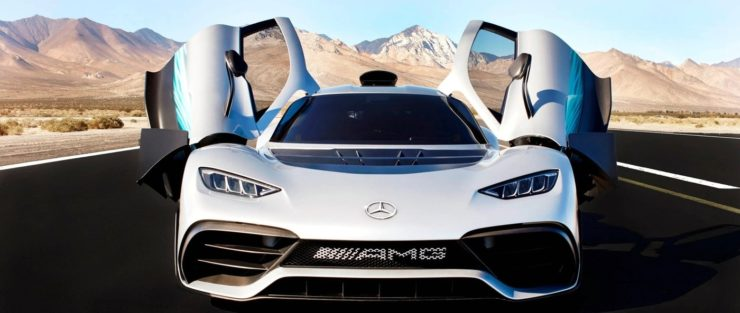 Mercedes-Benz Project One front profile door open