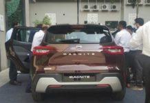Nissan Magnite spied at dealership 2