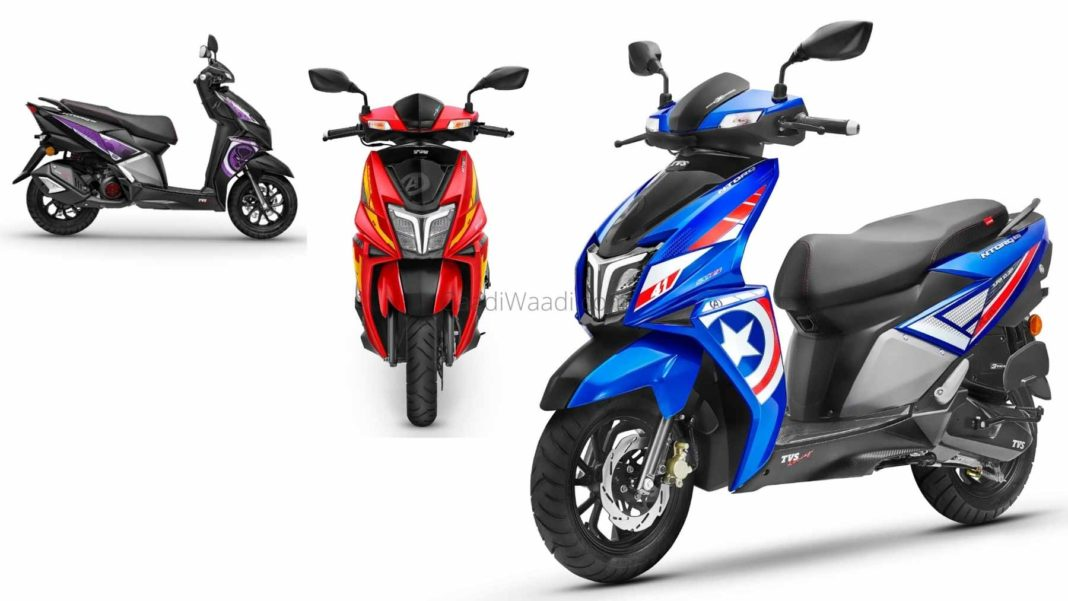 TVS NTorq Marvel 'Super Squad' Edition Launched - Iron Man To Captain America-1