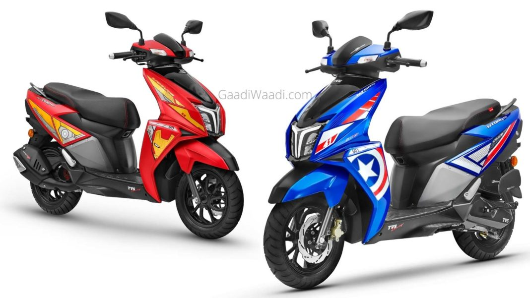 TVS NTorq Marvel 'Super Squad' Edition Launched - Iron Man To Captain America-1-2