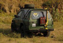 Tata Sierra modified off-road rear angle
