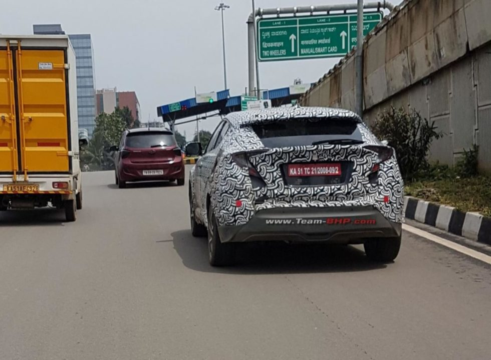 Toyota CH-R spied India 2