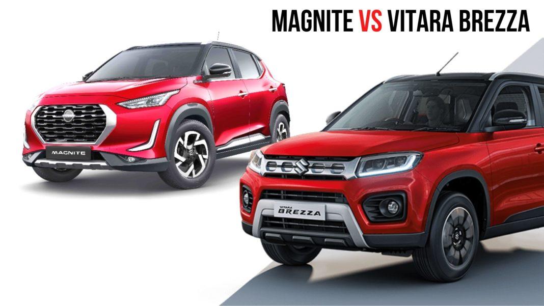 Upcoming Nissan Magnite Vs Maruti Vitara Brezza