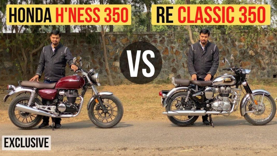 Honda Highness CB350 Vs Royal Enfield Classic 350 Comparison