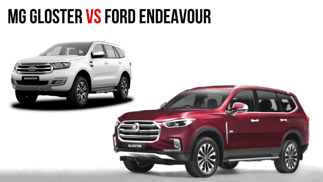 mg gloster vs ford endeavour