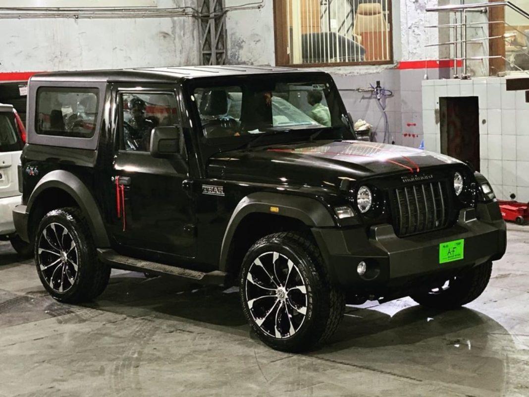 2020 Mahindra Thar custom alloy wheels 1