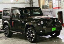 2020 Mahindra Thar custom alloy wheels 2