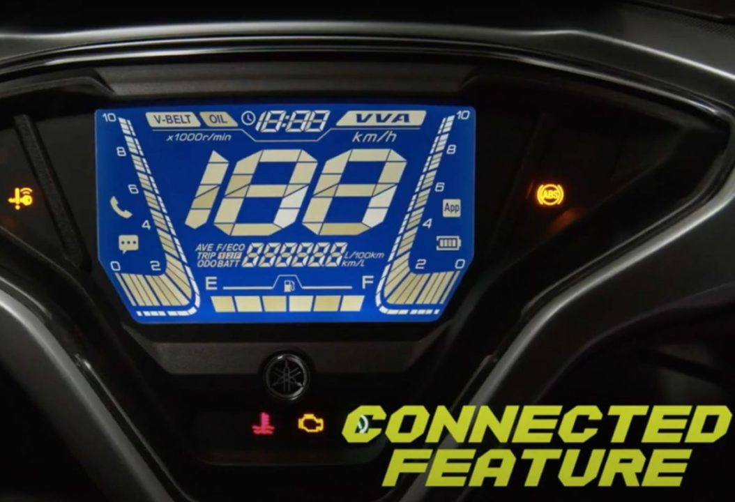 2021 Yamaha Aerox 155 instrument cluster