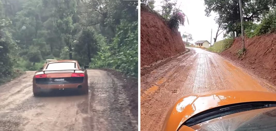 Audi R8 off road trip Bangalore to Coorg