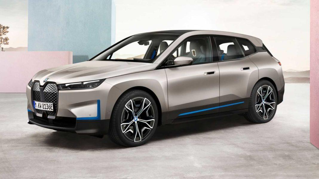 BMW iX front three quarter
