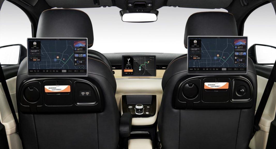 BYD Didi D1 electric ride-hailing MPV rear cabin