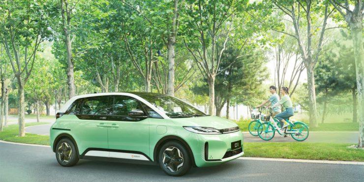 BYD Didi D1 electric ride-hailing MPV side
