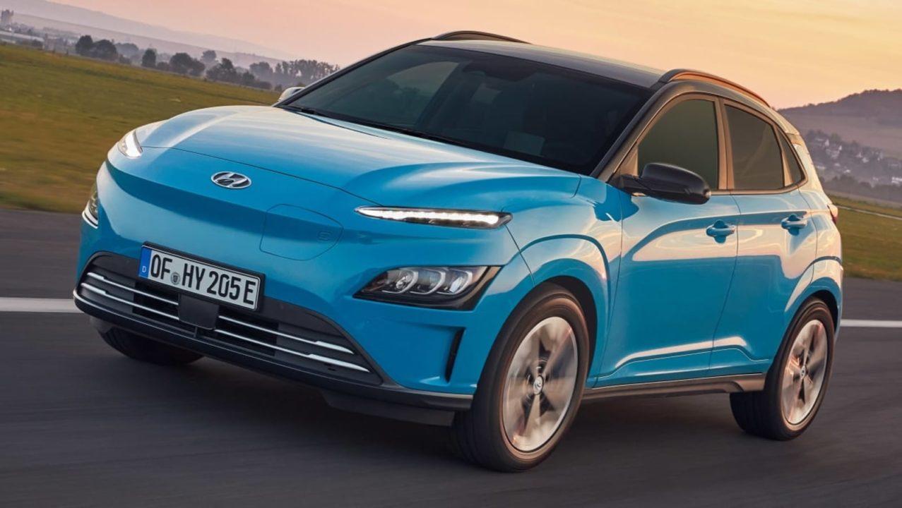 Hyundai Kona EV facelift front angle