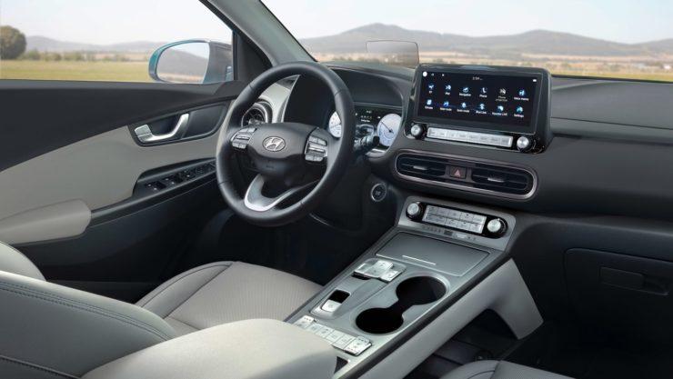 Hyundai Kona EV facelift interior