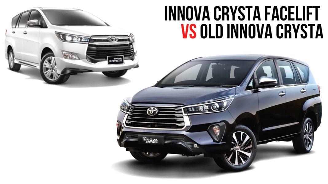 Innova Crysta Facelift vs Old Innova Crysta